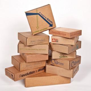 Картонные коробки с печатью
